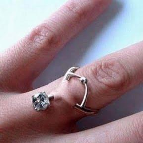 gross pierced wedding ring