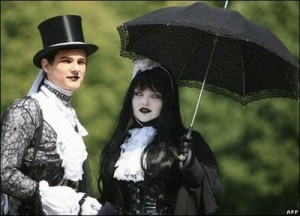 Gothic Bride and Groom