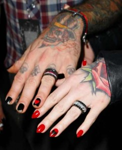 Gothic Wedding Rings for AJ Mc Lean