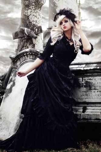 Gothic Wedding Dress on Blonde