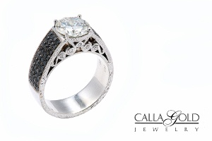 Black and White Diamond Ring