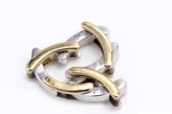 Flexible Ring in White and Yellow Gold