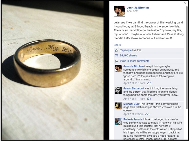 Wedding Band Lost and Found
