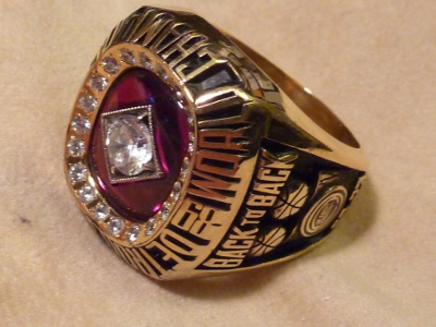 The Oxidation on This Basketball Championship Ring Came off During Sizing and We Re-Applied it