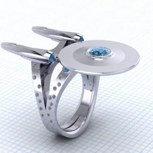 I love this Star Trek Ring by Paul Michael Design