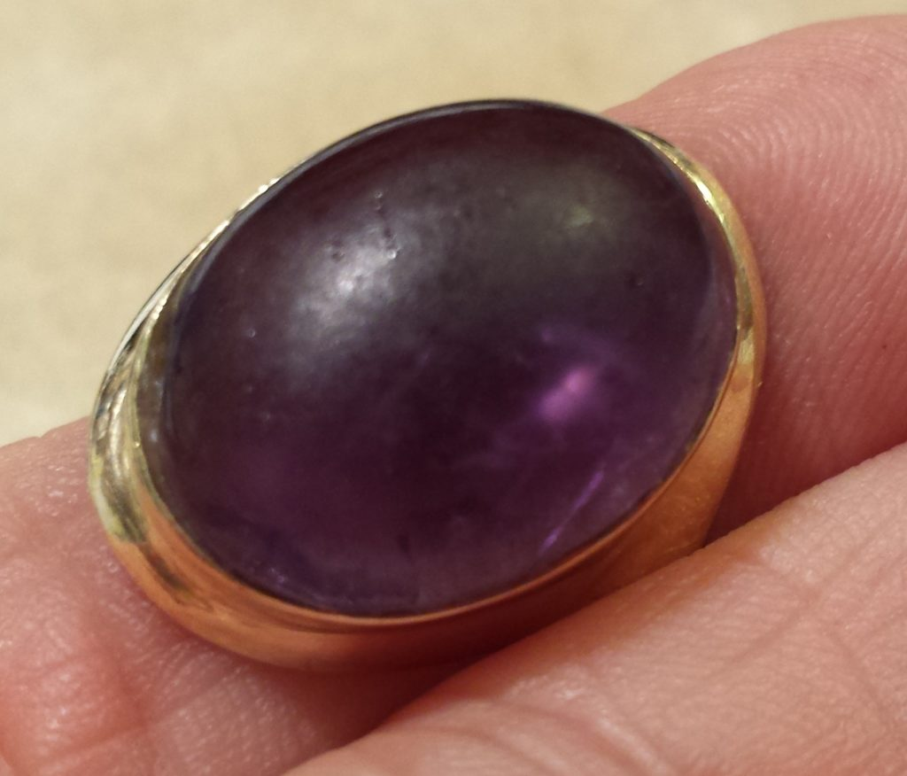 Daily Wear and Love Caused the Dull look and Scratching of This Amethyst.