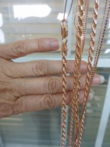 Recently Plated Rose Gold Chains