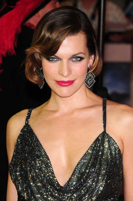 In the Happiness is Wearing Earrings Department. I Leave You With This. Milla Jovovich's Eyes Glow With the Help of Same Color Earrings. She Has Lovely Ears Too.