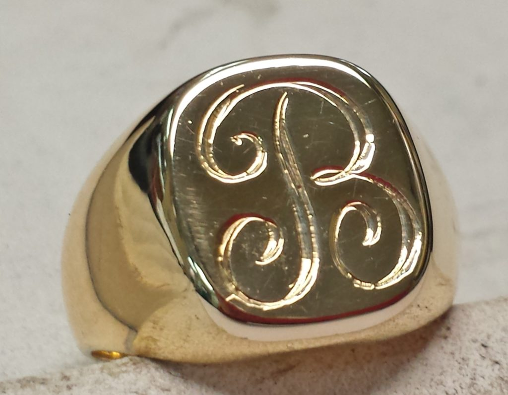 signet ring what should you engrave vanilla or chocolate