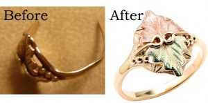 jewelry definition Re-shank before and after