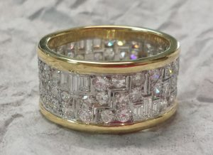 Diamond Eternity Art Deco Band