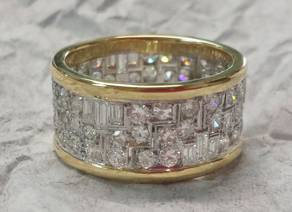 Diamond Eternity Band with yellow gold