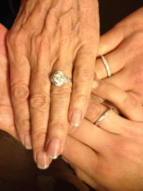 Three diamond rings made from one inherited ring