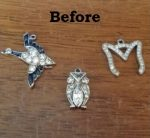 3 Inherited Charms - Before Picture
