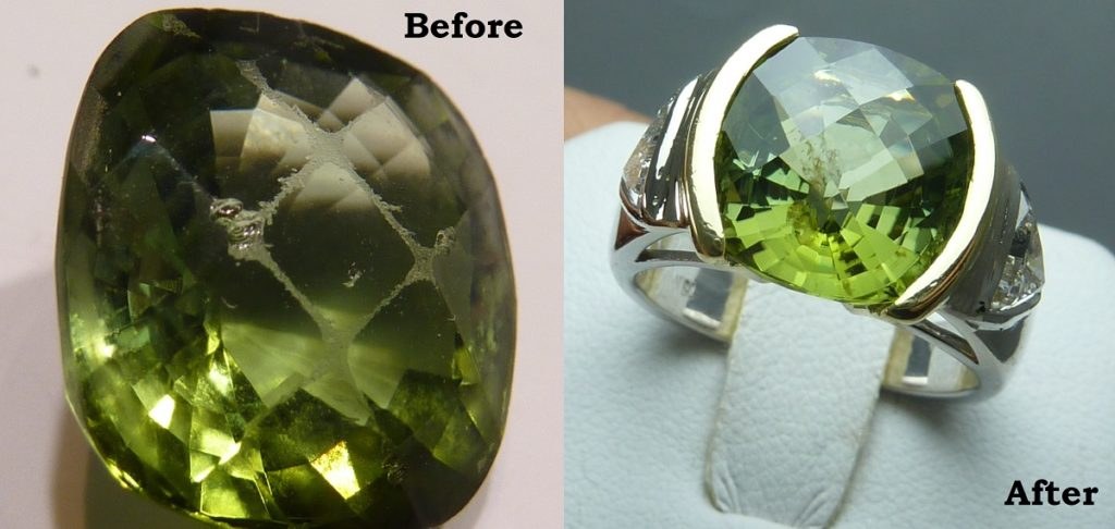 Tsavorite Before and After