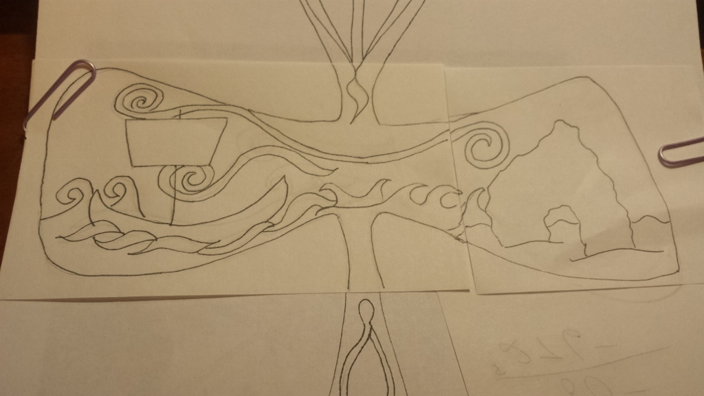 Isle of Iona Cross drawing