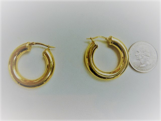 Telephone friendly sleeper hoop earrings