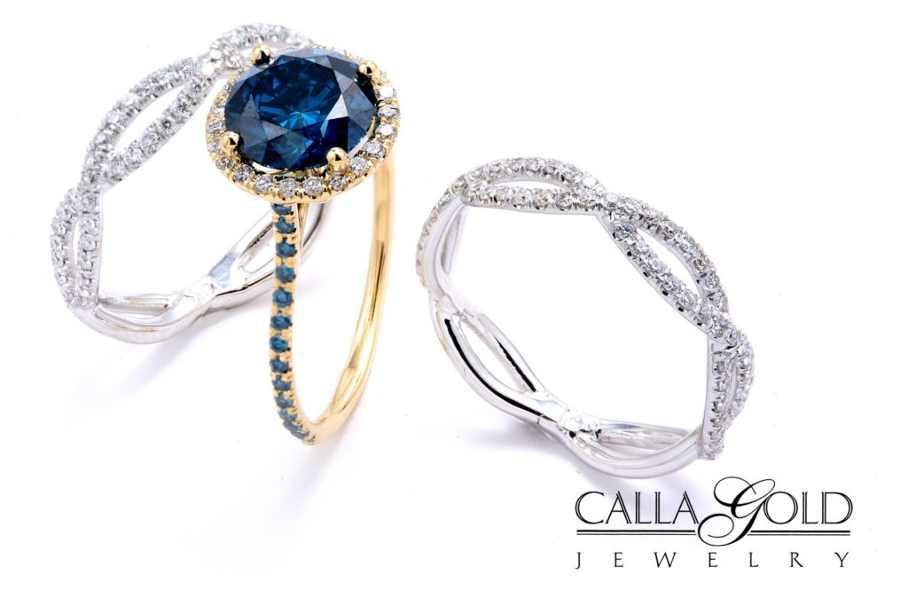 Blue-diamond-engagement-ring-halo