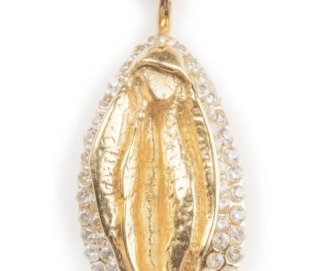 This Vaginal Necklace Is Made By Tuza Its Made Of Gold Plated Sterling Silver With Cubic Zerconias Because Nothing Says Sexy Like A Bit Of Sparkle And