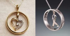 Wedding bands into necklaces