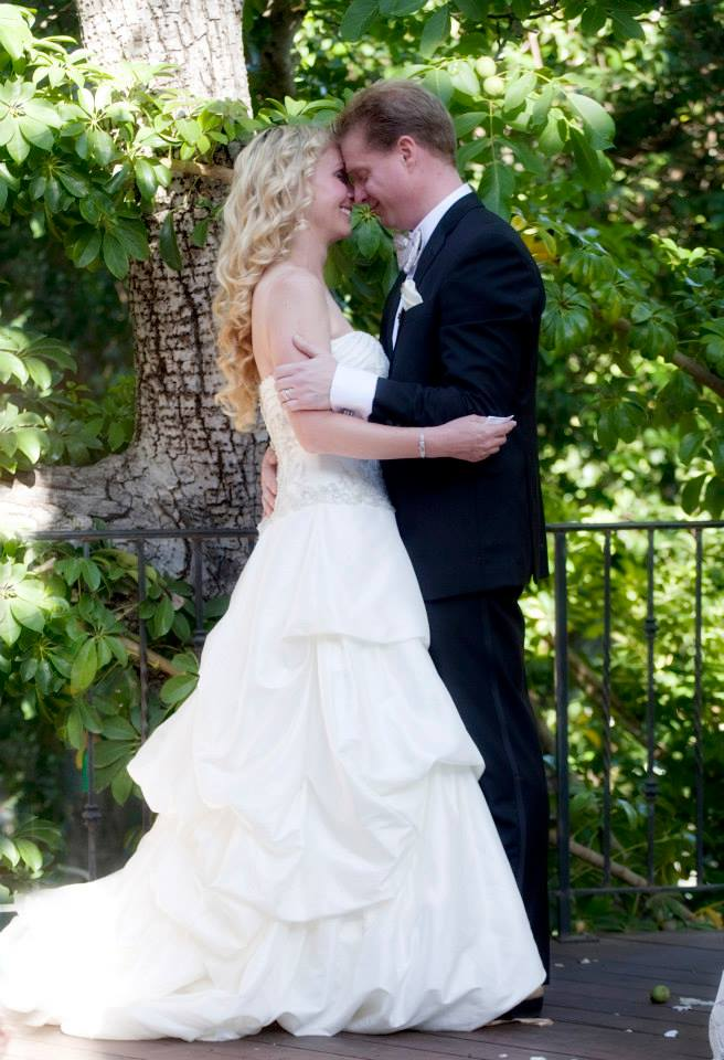 Beautiful Bride, Wedding Kiss at Circle Bar B in Santa Barbara