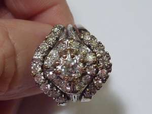 Inherited diamond ring. Three rings soldered together