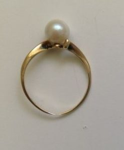 re-shank candidate, shank too thin on pearl ring