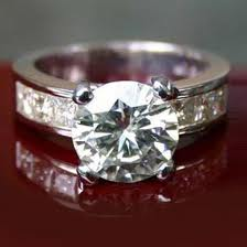 Moissanite Engagement Ring in white gold