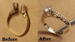 Old yellow gold ring, replicated with changes