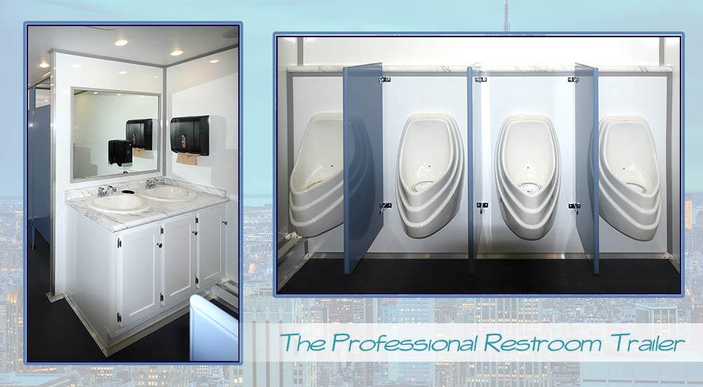 Construction Restroom Trailers  Long Term Bathroom