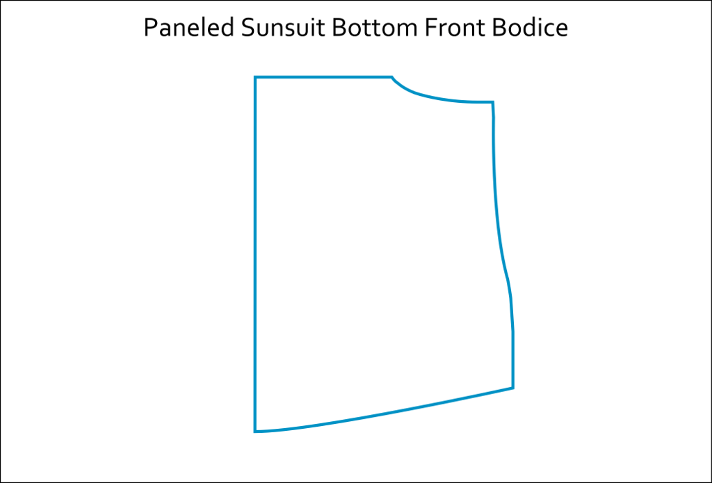 A-line Tunic Paneled Sunsuit Hack