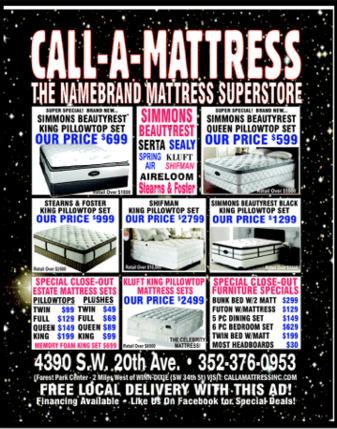 Coupons and Flyers  Call A Mattress