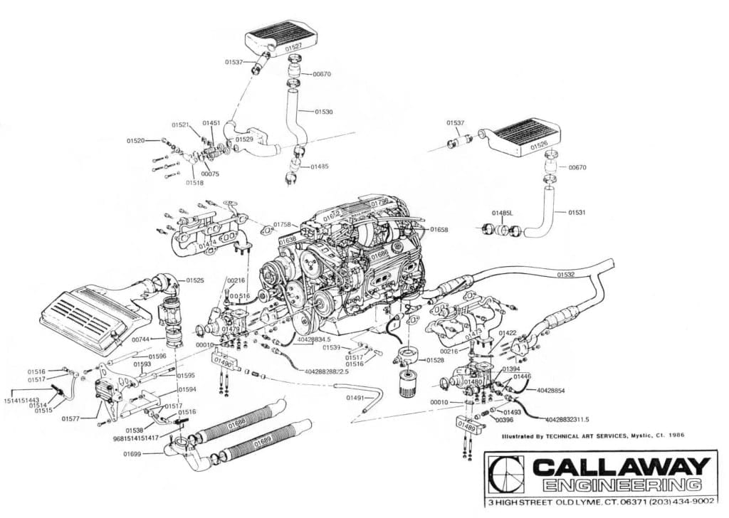 Callaway Twin Turbo Corvette Schematic