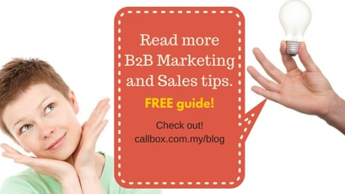 Read more B2B Marketing and Sales tips.