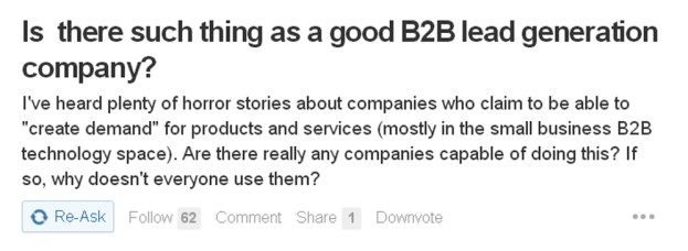 Is  there such thing as a good B2B lead generation company?