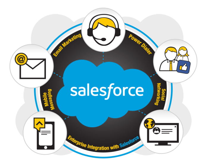 Salesforce contacts through DialStream