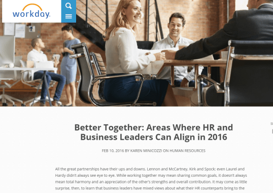 Better Together: Areas Where HR and Business Leaders Can Align in 2016 - 5 Perky Blogs in the Payroll Industry: Which Content Strategy Stand Out?