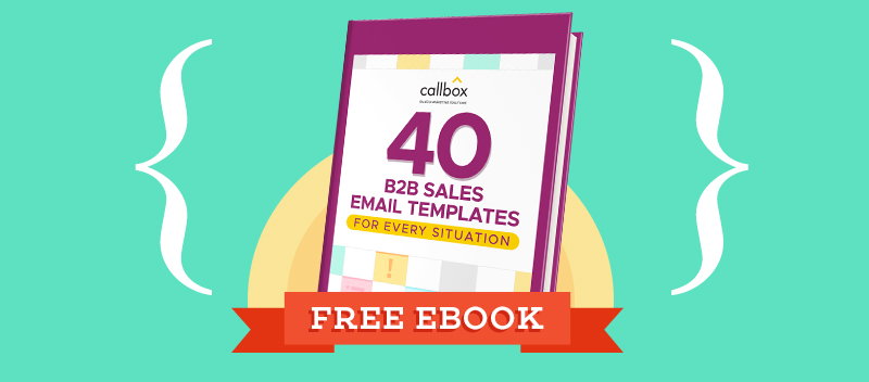 40 B2b Sales Email Templates For Every Situation Free Pdf