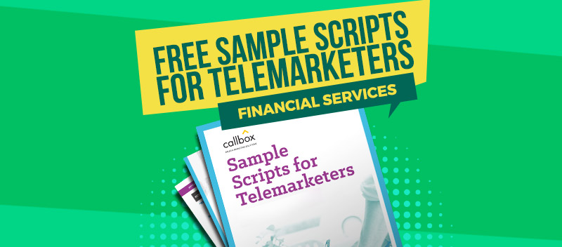Sample Scripts for Telemarketers - Financial Services