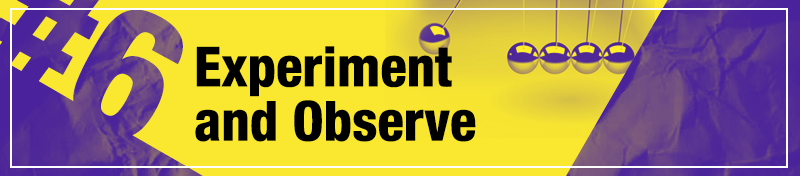 #6 Experiment and Observe