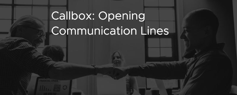 Callbox Opening Comunication Lines [CASE STUDY]