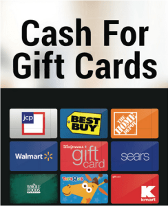 banner of gift cards we buy