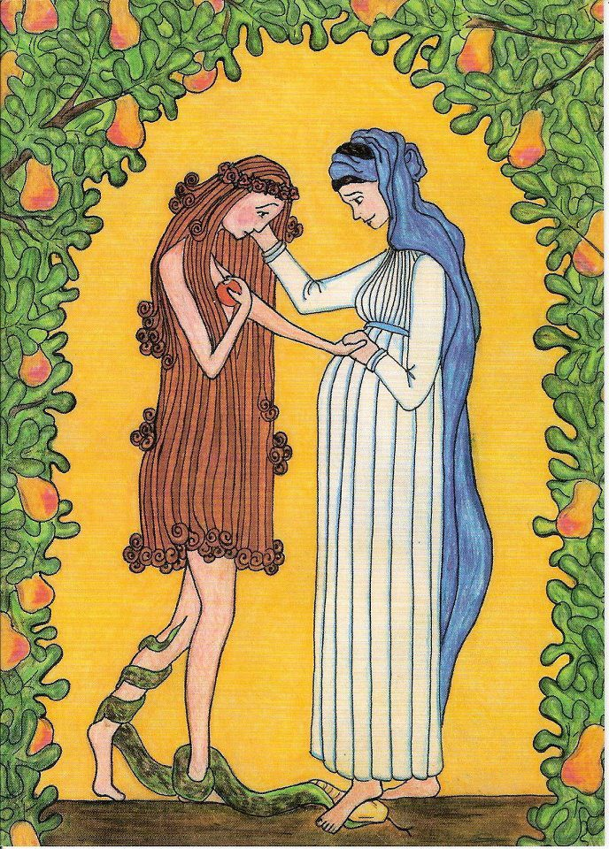 Grandma Eve and the Blessed Virgin Mary