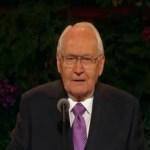 Elder L. Tom Perry resting at home after brief hospitalization