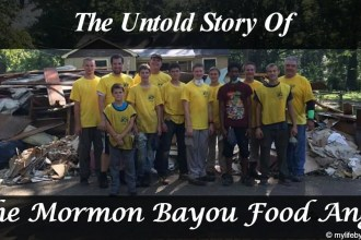 We've seen the pictures of the Mormon Helping Hands cleaning up after the Baton Rouge Floods, but here is the untold story of the Mormon Bayou Food Angel