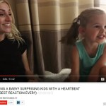 """There's a Baby In There!"" 4-Year-Old LDS YouTube Star Hears Heartbeat"