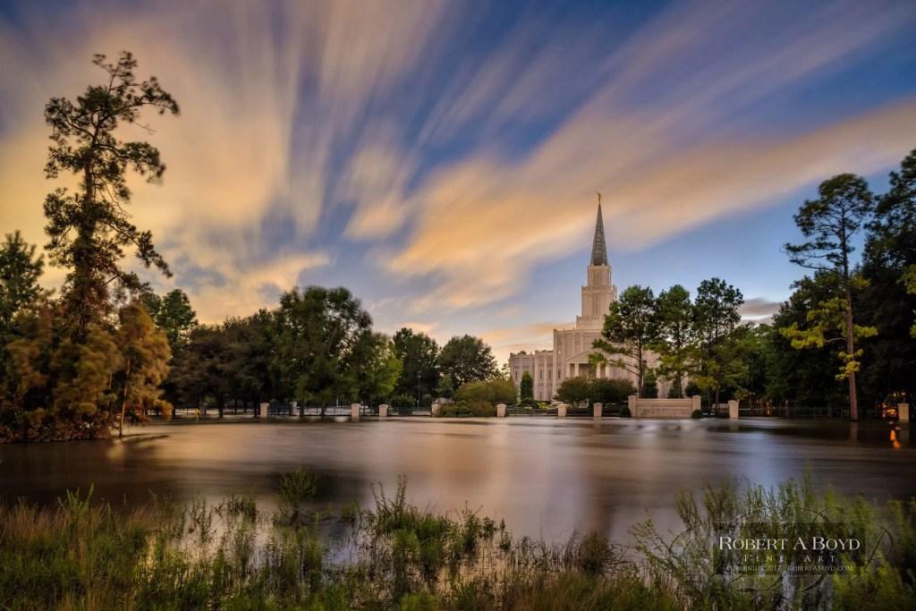houston texas temple flooding rededication