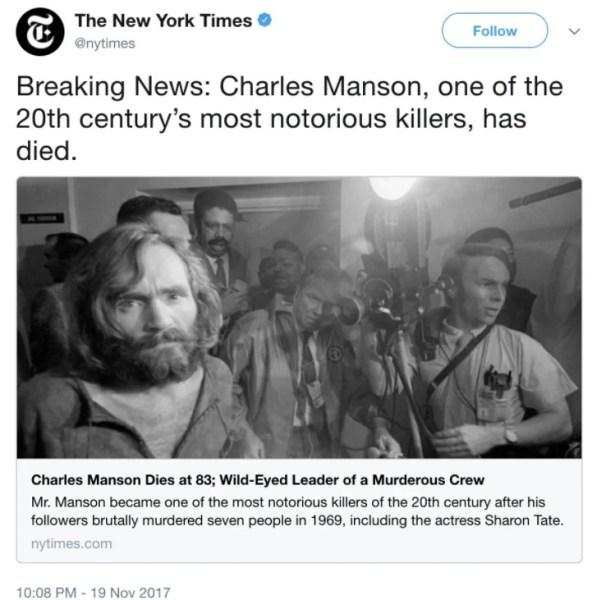 new york times monson headline