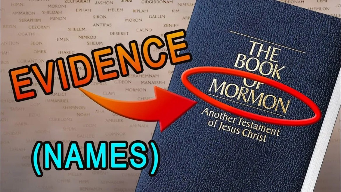 book of mormon names evidences