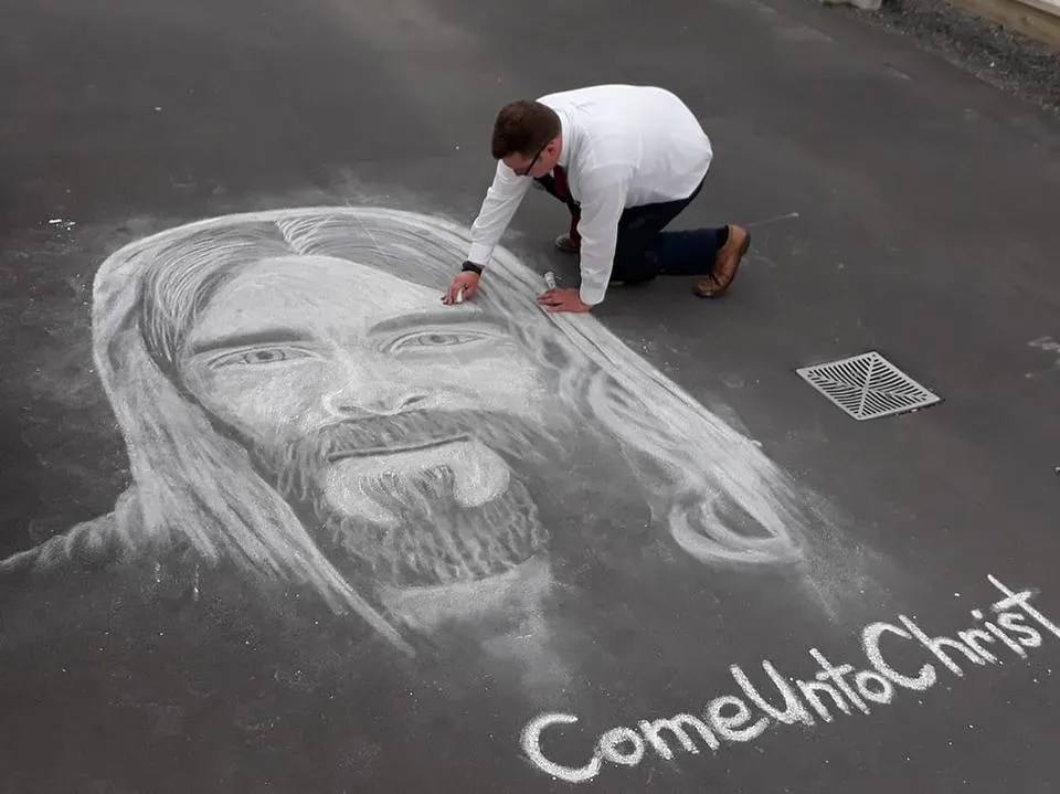 Missionary Chalk Drawing
